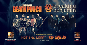 BREAKING BENJAMIN & FIVE FINGER DEATH PUNCH Tour Tickets On Sale Friday 3/16