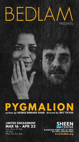 Vaishnavi Sharma and Eric Tucker Lead PYGMALION at The Sheen Center