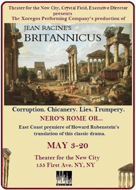 Theater For The New City Presents Xoregos Performing Co.'s Production of Racine's BRITANNICUS