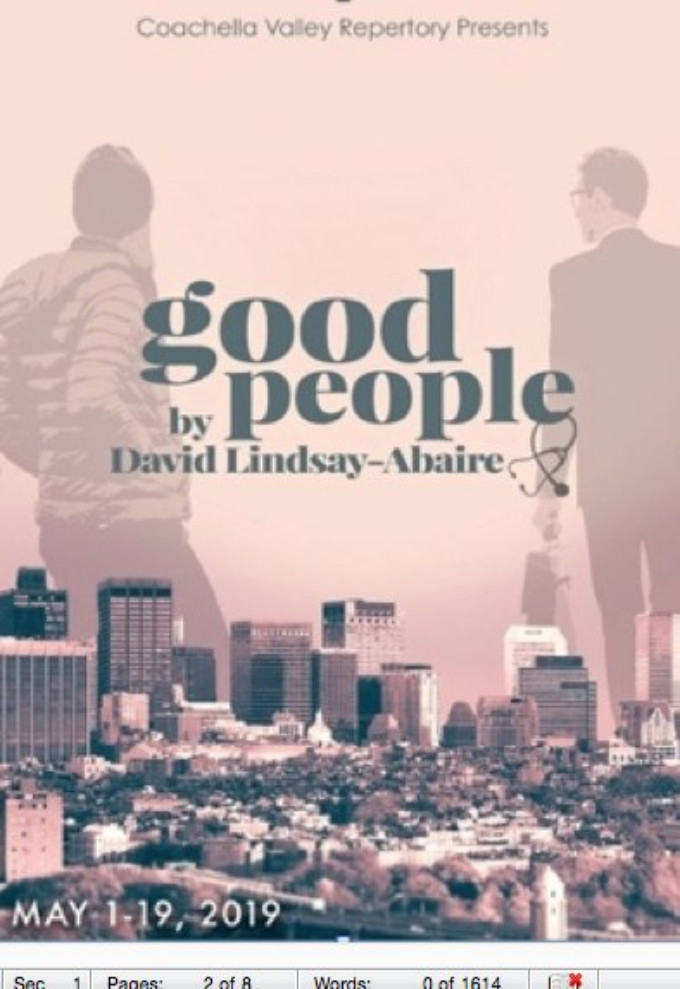 GOOD PEOPLE Comes To CV Rep Theater