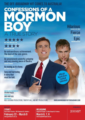 CONFESSIONS OF A MORMON BOY Comes To Australia
