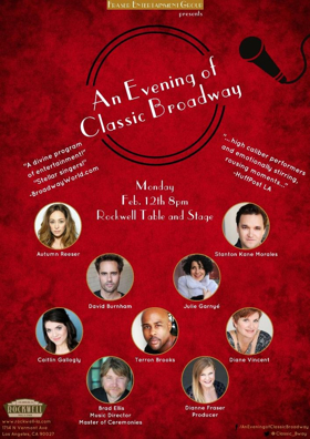 Cast Announced for Rockwell's AN EVENING OF CLASSIC BROADWAY on February 12th
