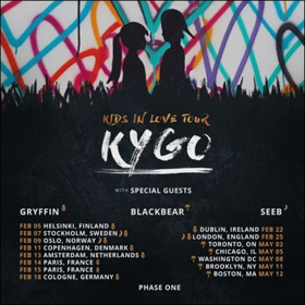 Kygo Announces 2018 'Kids In Love' Tour with Special Guests Gryffin, Blackbear & Seeb