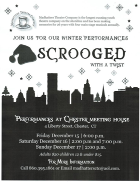 Madhatters Theatre Company Presents SCROOGED...WITH A TWIST