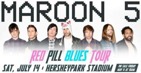 Maroon 5 To Perform At Hersheypark Stadium