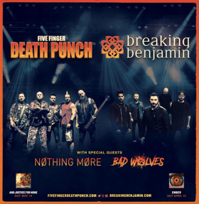 Five Finger Punch And Breaking Benjamin Announce M Ive Summer Amphitheater Tour