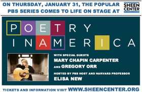 The Sheen Center Presents POETRY IN AMERICA Featuring Mary Chapin Carpenter