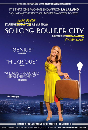 LA LA LAND-Inspired SO LONG BOULDER CITY to Play The Subculture Theatre