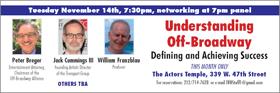 'UNDERSTANDING OFF-BROADWAY' TRU Panel Held Today at Actors Temple Theatre