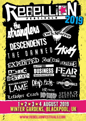 Rebellion Festival Returns in August at Winter Gardens in Blackpool