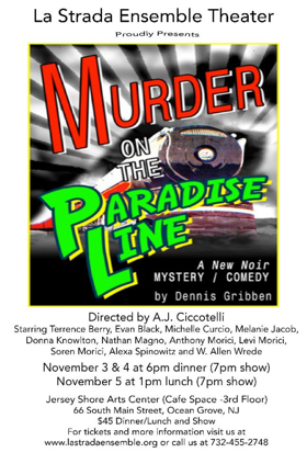 MURDER ON THE PARADISE LINE Sets Opening in Ocean Grove