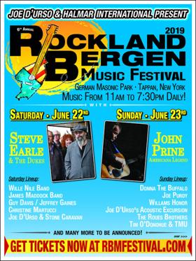 John Prine and Steve Earle & The Dukes To Headline Sixth Annual Rockland Bergen Music Festival