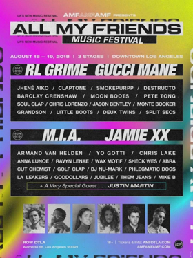 ALL MY FRIENDS Music Festival Announces Full 2018 Line-Up