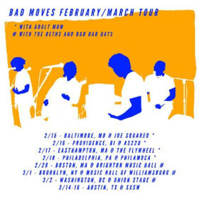 Bad Moves Share WISHING Video, Plus Tour Dates with Adult Mom, The Beths