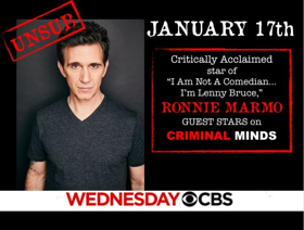 Ronnie Marmo to Guest Star OnHit CBS Crime Drama CRIMINAL MINDS