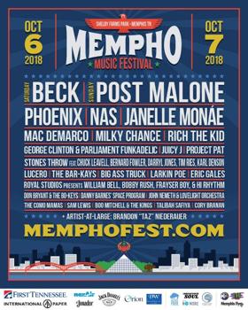 Beck, Post Malone, Phoenix, Nas To Headline 2018 Mempho Music Festival