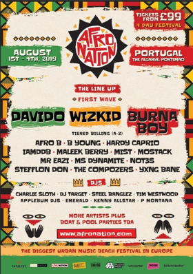 Wizkid, Burna Boy and Davido to Headline the Afro Nation Festival