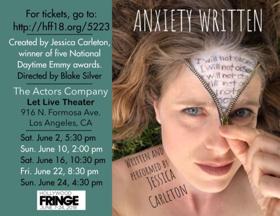 Jessica Carleton's Solo Show ANXIETY WRITTEN Opens Tomorrow