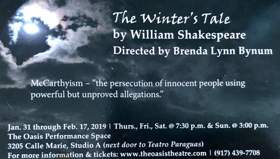 BWW Feature: THE WINTER'S TALE at The Oasis Theatre Company