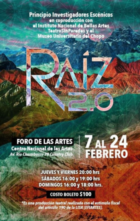 RAIZ 2.0 Extraordinaria puesta en escena...con APP incluída