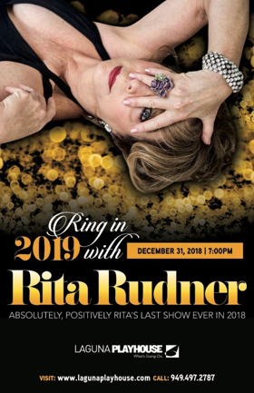 Laguna Playhouse Presents A New Year's Eve Tradition- Rita Rudner Starring In HER ABSOLUTELY, POSITIVELY, LAST SHOW OF 2018
