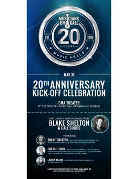 Musicians on Call, Blake Shelton Team Up For 20th Anniversary Celebration Concert