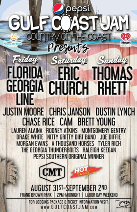 Pepsi Gulf Coast Jam To Host CMT