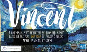 One-Man Play VINCENT Comes to Patchogue Theatre