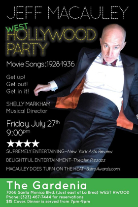 HOLLYWOOD PARTY: MOVIE SONGS 1928-1936 Comes to The Gardenia This Month