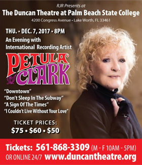 BWW Previews: PETULA CLARK AT THE DUNCAN THEATRE  at The Duncan Theatre Palm Beach State College December 7, 2017