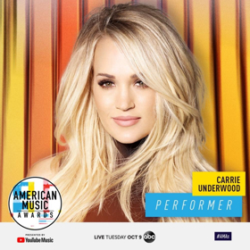 Carrie Underwood, Imagine Dragons, and Post Malone with Ty Dolla $ign to Perform at 2018 AMERICAN MUSIC AWARDS