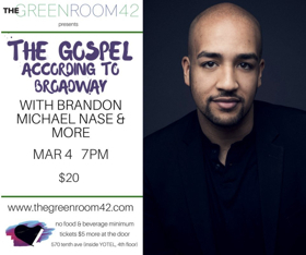 The Green Room 42 Celebrates Black History Month with THE GOSPEL ACCORDING TO BROADWAY