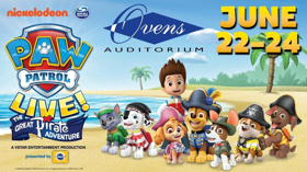 PAW Patrol Live! THE GREAT PIRATE ADVENTURE Comes to Ovens Auditorium