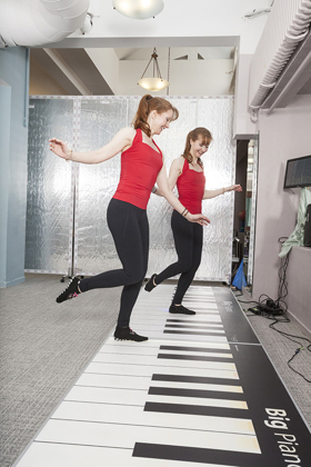 BIG PIANO Workout Powers Bodies and Brains High Above NYC