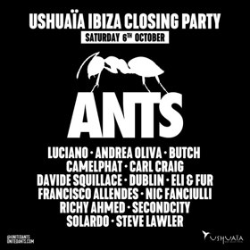 Ushuaïa Ibiza 2018 to Close Season with ANTS