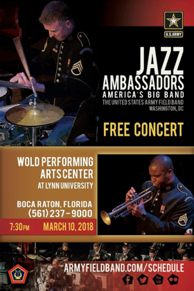 Lynn University to Present the U.S. Army Jazz Ambassadors in a Free Concert