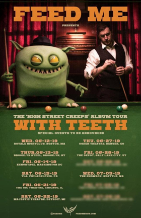 Feed Me Announces WITH TEETH Summer U.S. Tour