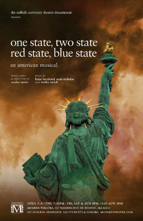 Suffolk University Theatre Department Announces ONE STATE, TWO STATE, RED STATE, BLUE STATE