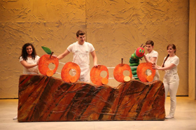 THE VERY HUNGRY CATERPILLAR SHOW to Munch on Audience Costumes & Candy for Halloween