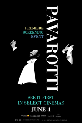PAVAROTTI Premiere Screening Comes to Theaters Nationwide This June