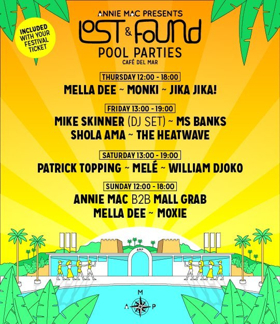 AMP Lost & Found Confirm Pool Party Schedule with Mall Grab B2B Annie Mac, plus Mike Skinner, & More