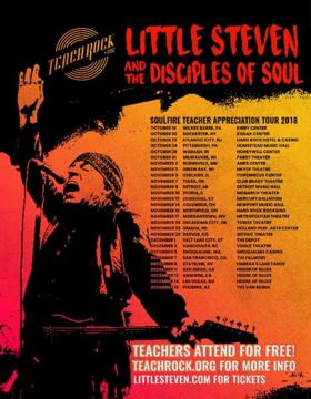 Little Steven Announces the SOULFIRE TEACHER APPRECIATION TOUR 2018