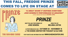 PRINZE, THE ONE-MAN SHOW Comes to Sheen Center