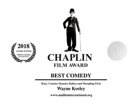 Kissy Cousins Monster Babies and Morphing Elvis Wins Chaplin Award for Best Comedy
