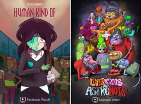 """Facebook Watch Debuting Two New Adult Animated Comedy Series, """"HUMAN KIND OF"""" and """"LIVERSPOTS AND ASTRONOTS"""""""