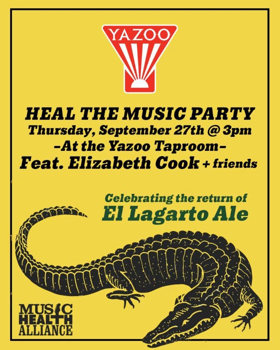 Heal the Music Party feat. Elizabeth Cook and Friends at Yazoo Taproom 9/27