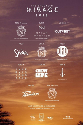 The Brooklyn Mirage Announces Opening Weekend with The Cityfox Experience on Saturday, May 19