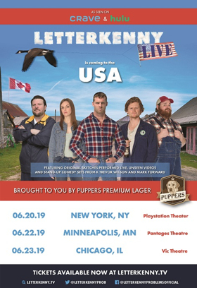 Cast Of Hit Hulu Series LETTERKENNY Coming To America For First Ever LETTERKENNY LIVE!