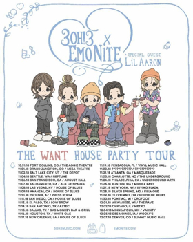 3OH!3 and Emo Nite LA Announce The WANT House Party Tour With Special Guest lil aaron