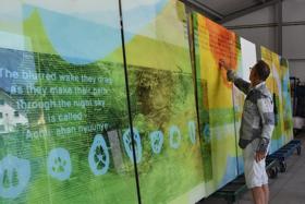 Scottsdale Airport Showcases Artistic Glass Panels